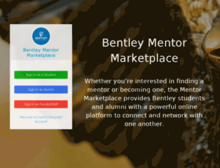 mentor.bentley.edu screenshot