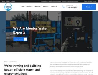 mentorwater.in screenshot