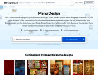 menu.designcrowd.com screenshot