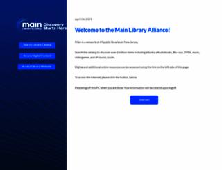 menu.mainlib.org screenshot