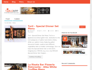 menu.tableapp.com screenshot