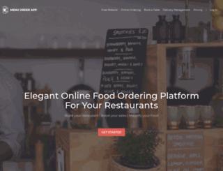 menuorderapp.com screenshot