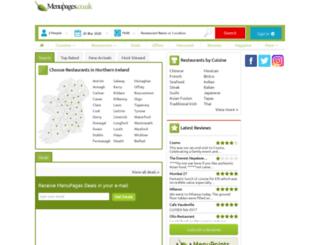 menupages.co.uk screenshot