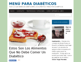 menuparadiabeticos.net screenshot