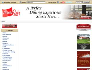 menusonly.com screenshot