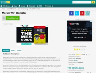 meraki-wifi-stumbler.soft112.com screenshot