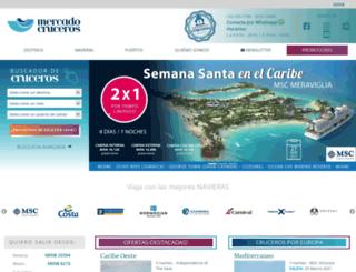 mercadocruceros.com screenshot