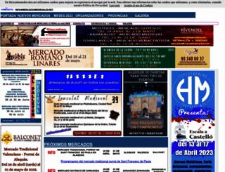mercadosmedievales.info screenshot