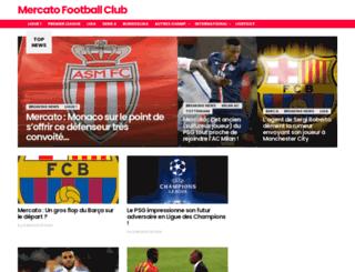 mercatofootballclub.fr screenshot