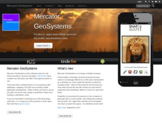 mercatorgeosystems.com screenshot