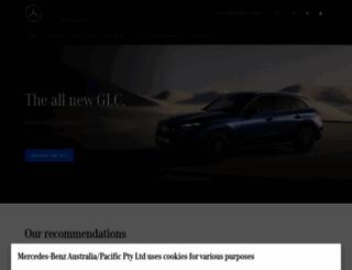 mercedes-benz.com.au screenshot