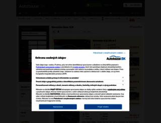 mercedes-slk.autobazar.sk screenshot