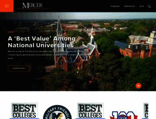 mercer.edu screenshot