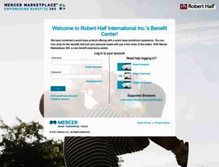 mercermarketplace-roberthalfinternational.secure-enroll.com screenshot