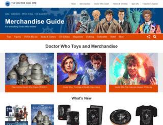 merchandise.thedoctorwhosite.co.uk screenshot