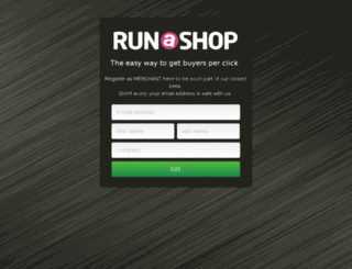 merchants.runashop.com screenshot