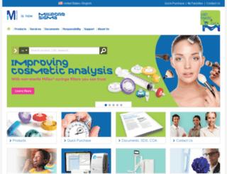 merckmillipore.com screenshot