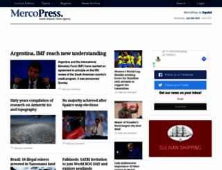 mercopress.com screenshot