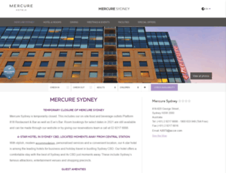mercuresydney.com.au screenshot