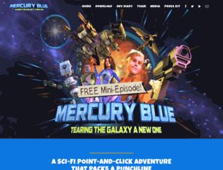 mercurybluegame.com screenshot