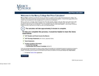 mercy.studentaidcalculator.com screenshot