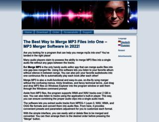 mergemp3.com screenshot