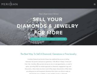 meridiandiamondbuyer.squarespace.com screenshot