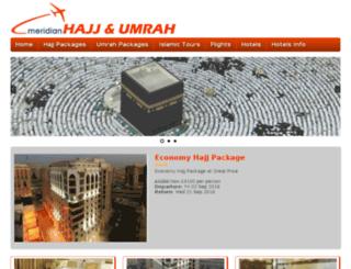 meridianhajjandumrah.com screenshot