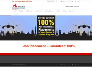 meridianinstitute.org screenshot