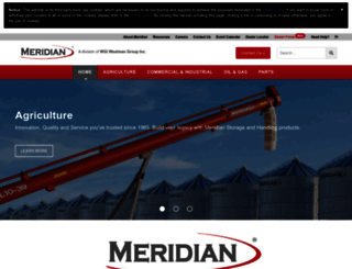 meridianmfg.com screenshot