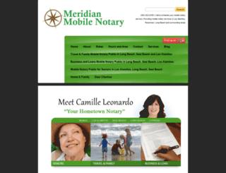 meridianmobilenotary.com screenshot