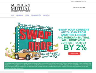 meridianmutualfcu.com screenshot