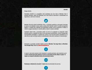 meridiantaxi.ro screenshot
