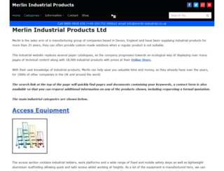 merlin-industrial.co.uk screenshot