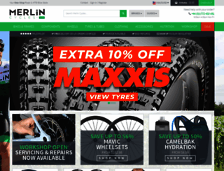 merlincycles.com screenshot