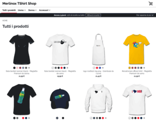 merlinox.spreadshirt.de screenshot