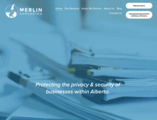 merlinshredding.com screenshot