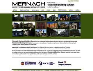mernaghbuildingsurveyors.ie screenshot