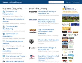 merrilldist.wausaubusinessdirectory.com screenshot