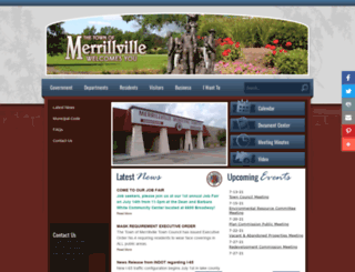 merrillville.in.gov screenshot