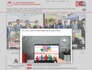 mersin.tarim.gov.tr screenshot