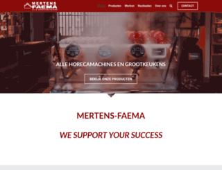 mertens-faema.be screenshot