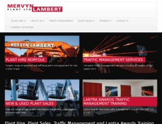 mervynlambertplant.co.uk screenshot