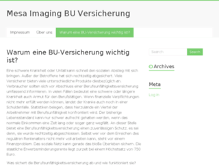 mesa-imaging.ch screenshot