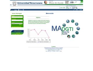 mesadeayuda.uv.mx screenshot