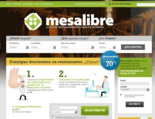 mesalibre.com screenshot