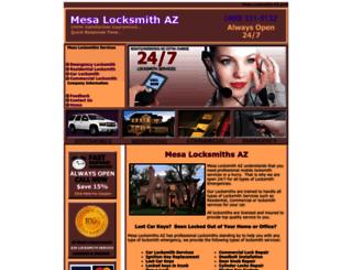 mesalocksmithsaz.com screenshot