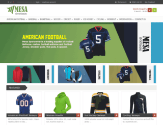 mesasportswear.com screenshot