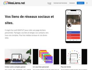 mesliens.net screenshot