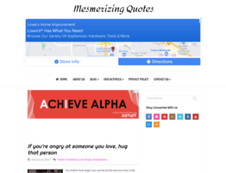 mesmerizingquotes.com screenshot